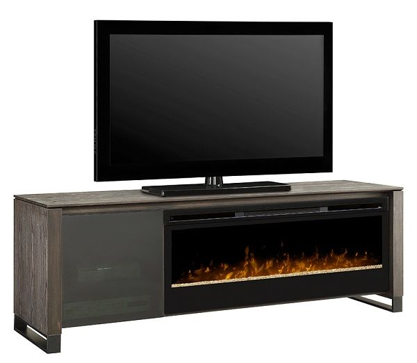Dimplex Howden Electric Fireplace Media Cabinet With Blf50 Insert 1899 Cdn Black Gray