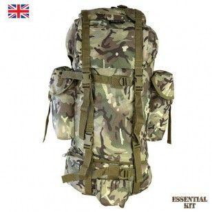Camouflage Camo Army Military Kombat UK BTP Black Gents Combat Trousers