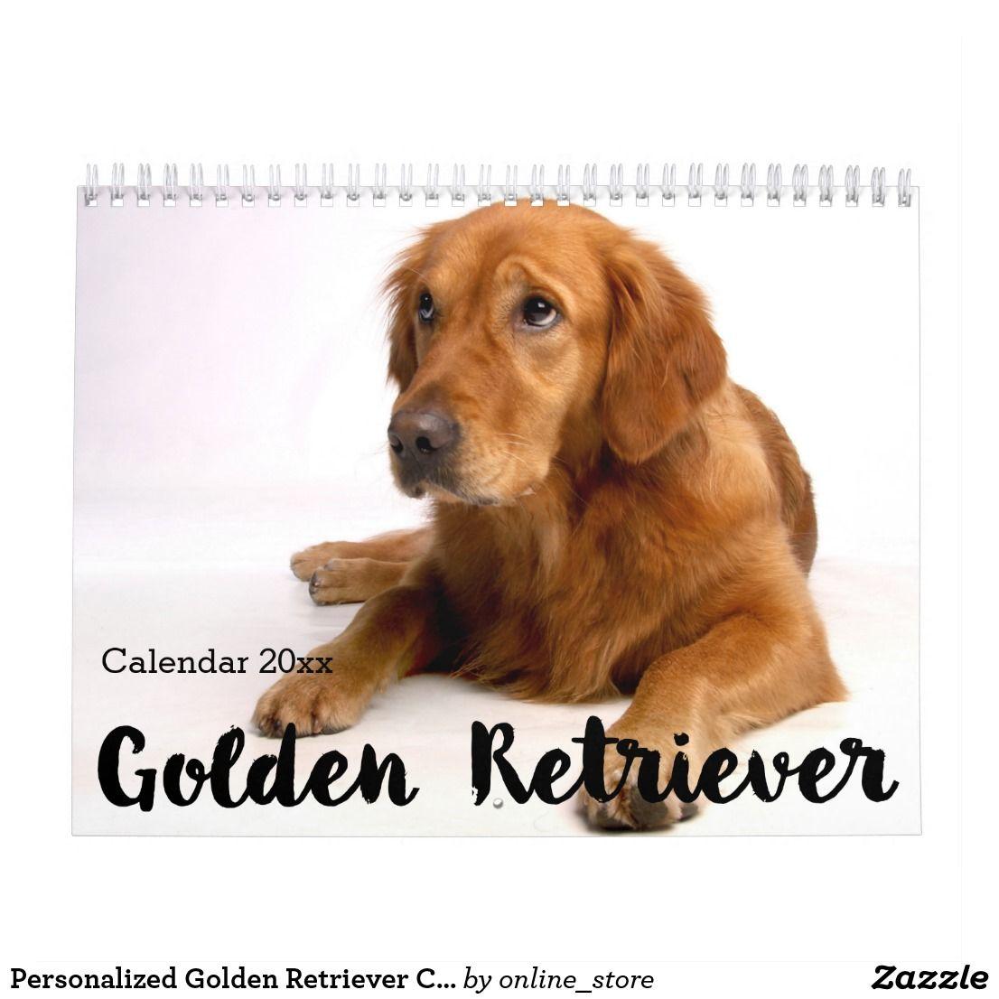Personalized Golden Retriever Calendar 2020 Zazzle Com Dog
