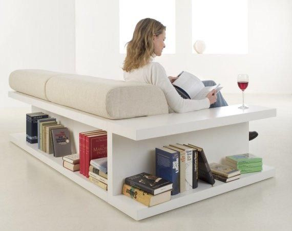 Hacker Help Sofa With Built In Storage Shelves Home Decor