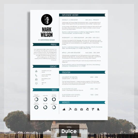 Modern Resume Template Modern CV Template Modern CV Design Шаблоны - modern resume templates word