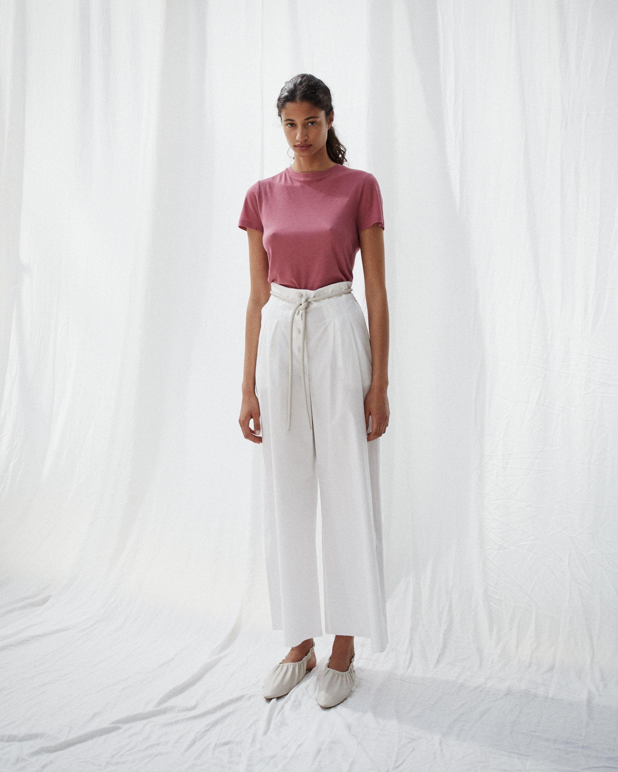 DUNN Palazzo pants - White creme €420 | Short sleeve mini dress, Nanushka,  High wasted pants