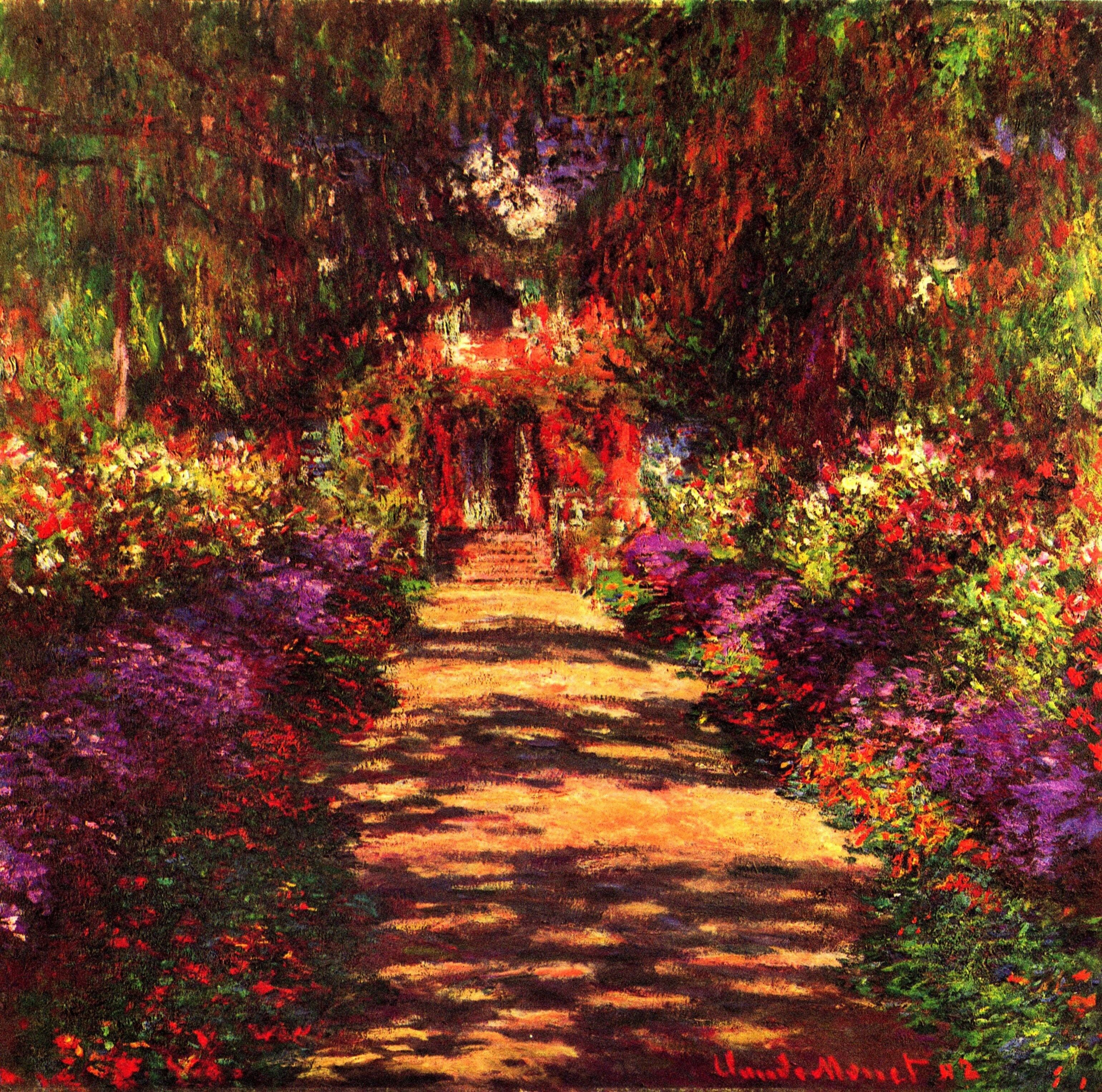 Monet: Path in Monets Garden in Giverny - Giclee Art Reproduction on ...
