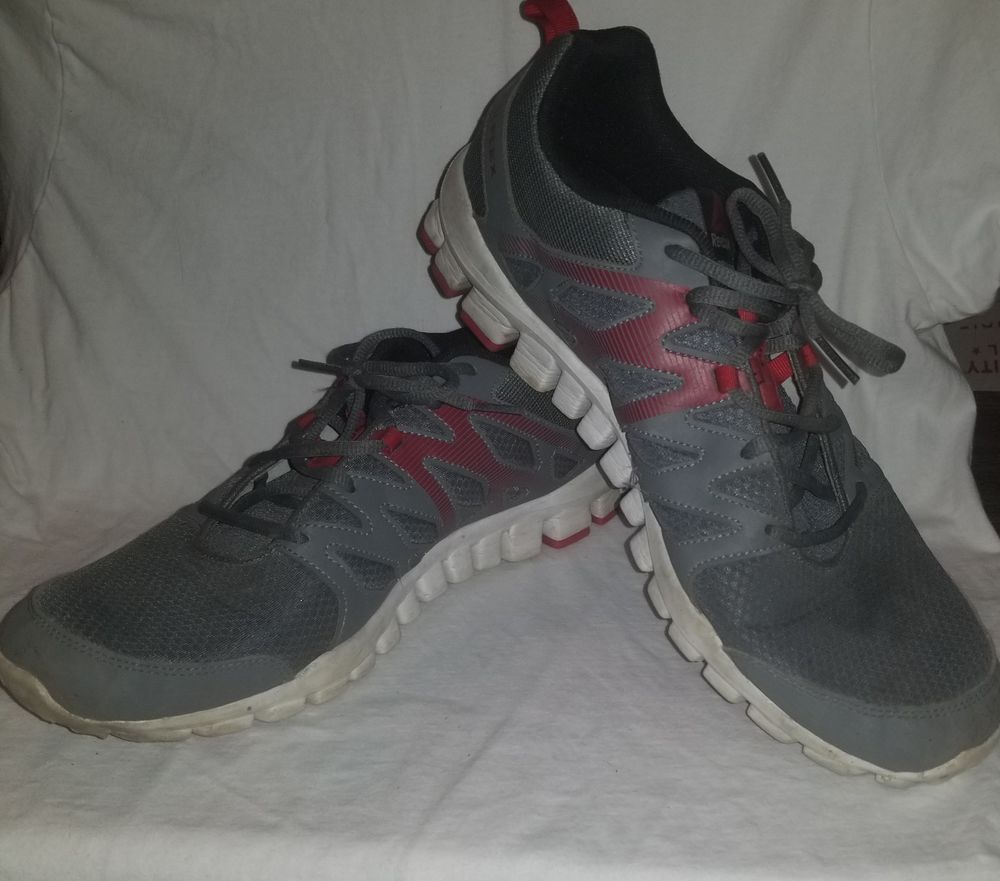 a218c3e2722b50 Pre-Owned Reebok Men s Realflex Train 4.0 Athletic Shoes Grey Red White Size  13  fashion  clothing  shoes  accessories  mensshoes  athleticshoes (ebay  link)