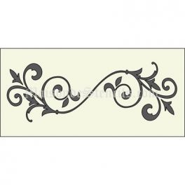 Flourish A 5.5x11.5 Stencil