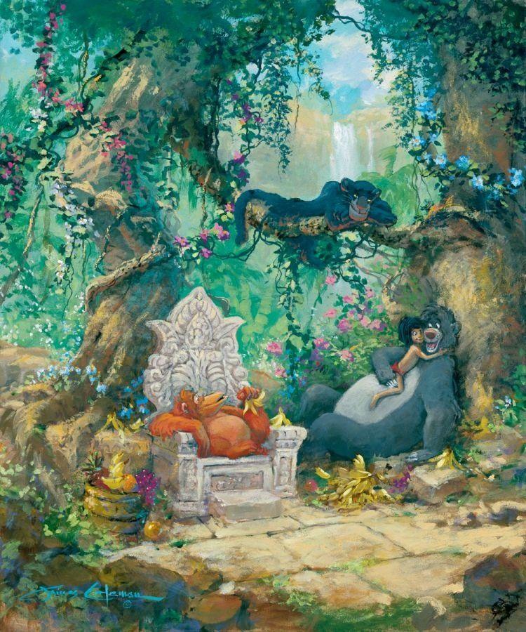 The jungle book thomas kinkade gallery wrap