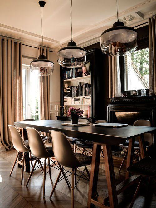 Idées déco pour une salle à manger ouverte sur le salon