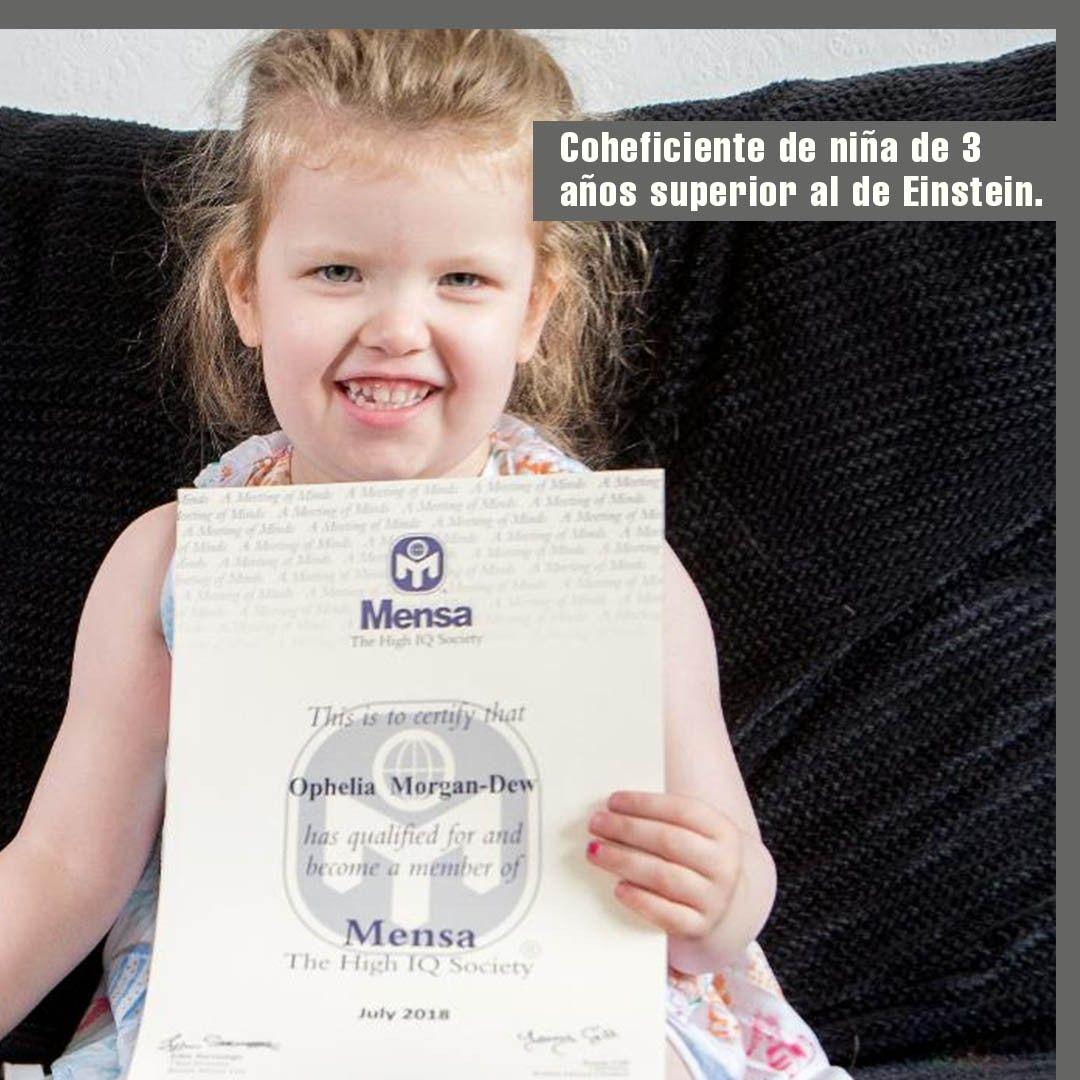Medios Locales Británicos Dieron A Conocer El Sorprendente Caso De Ophelia Morgan Dew La Niña De 3 Años Que Tiene Un Coefi Einstein Marketing Tips Book Cover