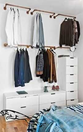 24 Ideas Open Closet Ideas For Small Spaces Hanging Clothes Walk In For 2020 Closetstorage Clos In 2020 Small Closet Space Bedroom Closet Storage Diy Clothes Storage