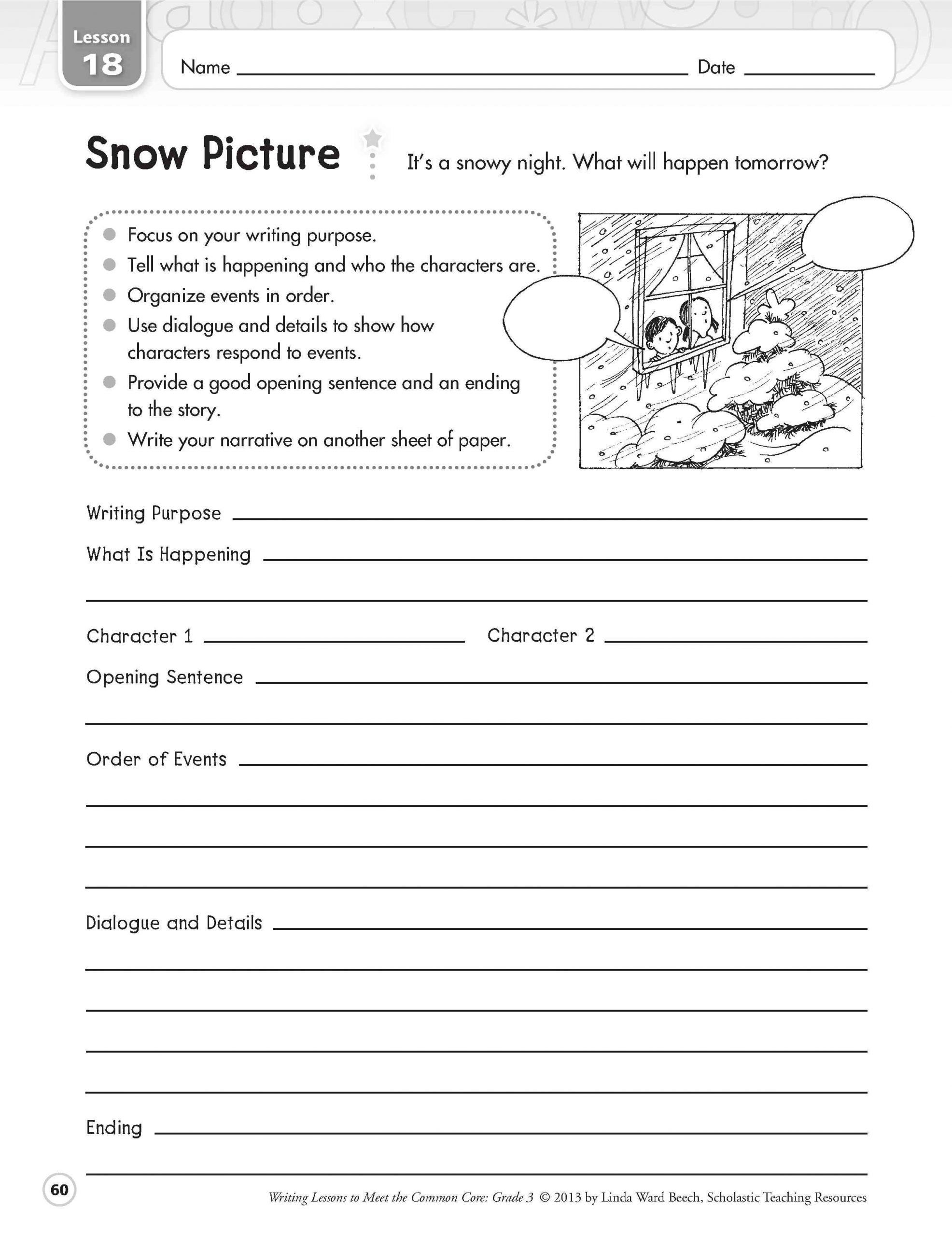 4th Grade Reading Response Worksheets Elementary Reading