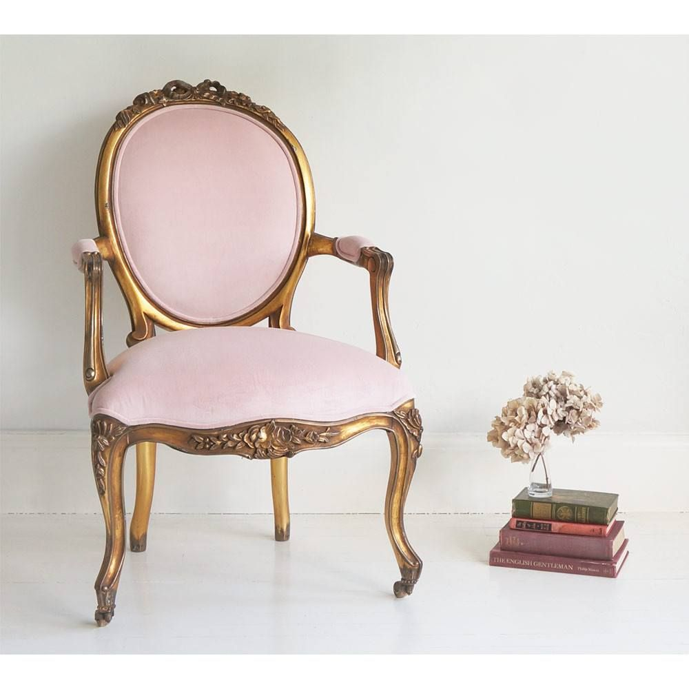 Sacre Coeur French Chair  Pink Gold Chair  French chairs, Gold