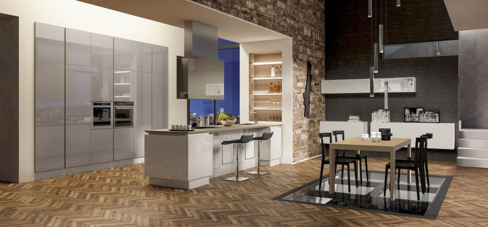 B50 | Cucine moderne | Berloni | βιβλιοθηκη-συνθεση | Pinterest ...