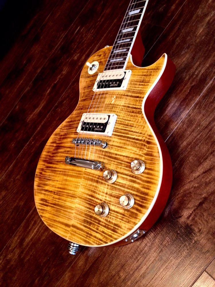 New Vintage V100afd Paradise Flamed Slash Lp Guitar Case Available Guitar Electric Guitar Design Guitar Case