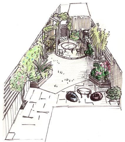 terraced house garden design google search