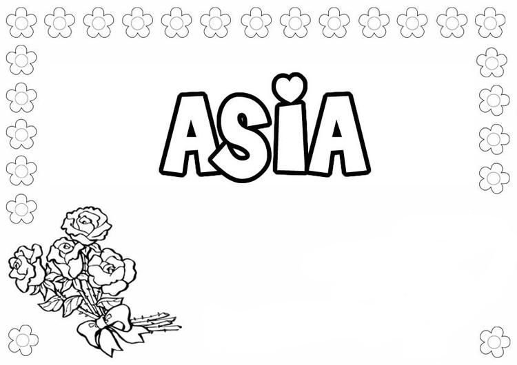 Name Coloring Pages Asia Name Coloring Pages Coloring Pages Princess Coloring Pages