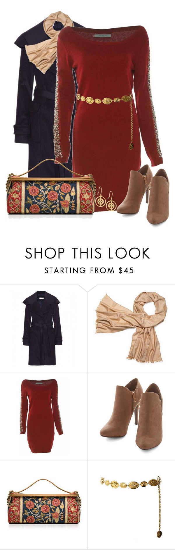 """""""Sweater dress"""" by elizabethdawes ❤ liked on Polyvore featuring Tory Burch, Chanel, ToryBurch and sweaterdress"""