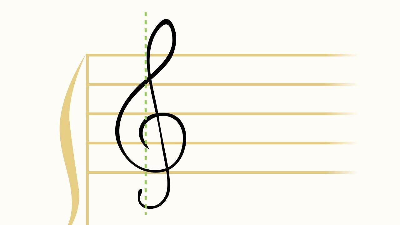 How To Draw The Treble Clef G Clef Treble Clef Drawings Clef