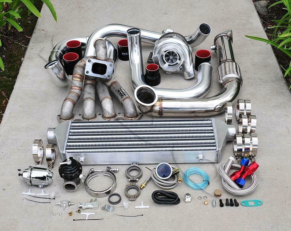 eBay #Sponsored GT3076 Top Mount Turbo Kit Chrome Piping