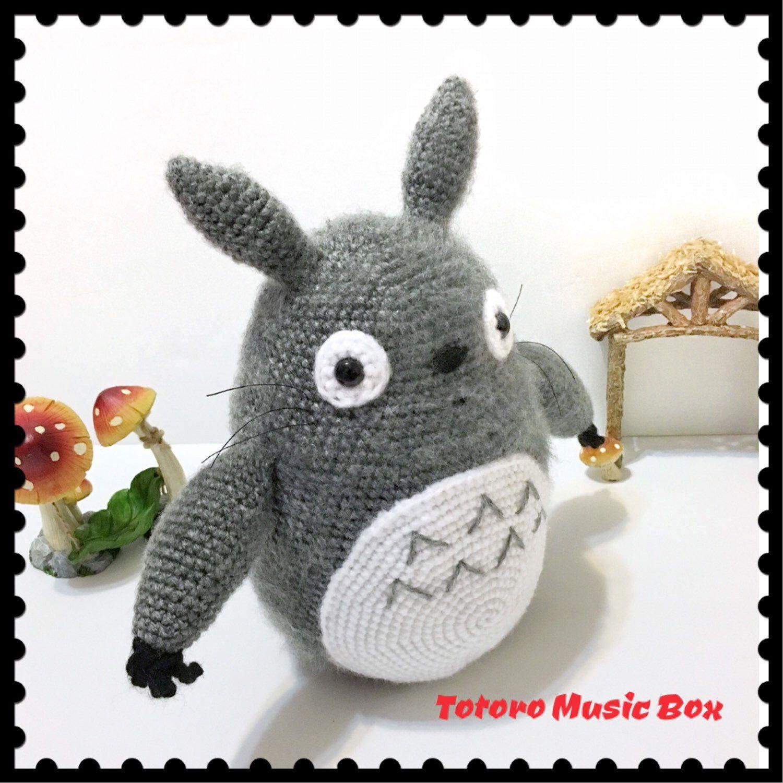 Large crochet Totoro Musical Plush🤩 Kawaii gift Idea for Totoro lovers! 9b4ef52a63
