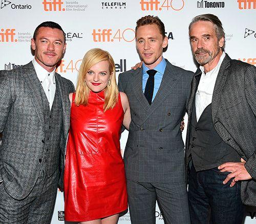 Tom Hiddleston Luke Evans Elisabeth Moss and Jeremy Irons attend the 'High-Rise' premiere during the 2015 Toronto International Film Festival at The Elgin on September 13, 2015 in Toronto. Full size image: http://ww1.sinaimg.cn/large/6e14d388gw1ew1rqhk3ooj21kw11v4mr.jpg Source: Torrilla