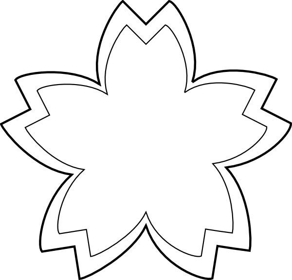 Flower outline clip art black and white clip art pinterest flower outline clip art black and white mightylinksfo Gallery