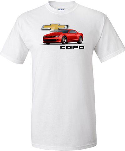 Chevrolet Camaro Copo Imprinted T Shirt Chevrolet Camaro Shirts Chevy Accessories