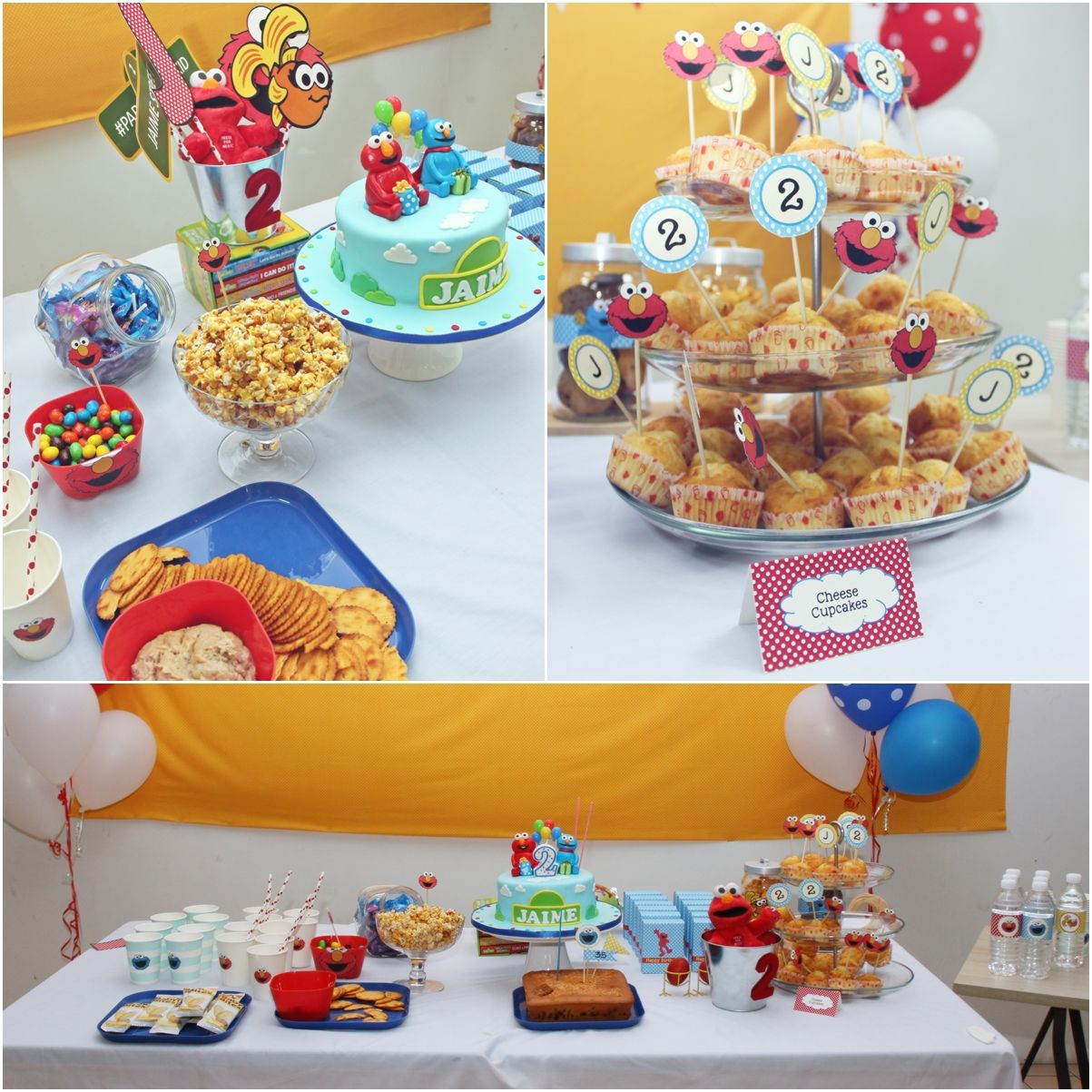 My son 2 years old Elmo theme birthday party. (With images