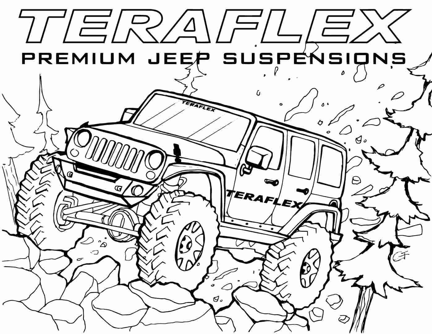 Cartoon Car Coloring Pages Elegant Teraflex Jeep Coloring Pages Gallery 39teraflex Jeep Coloring Pages Jeep Drawing Cars Coloring Pages