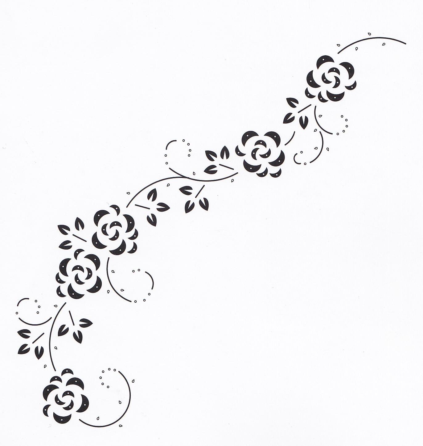 hobbydots patroon swirl met roosjes | Bordado | Pinterest | Bordado ...