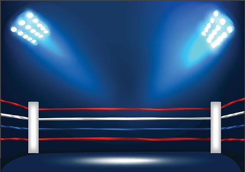 Boxing Ring Corner With Spotlight Vector Id590164568 494 348 Boxing Rings Episode Backgrounds Purple Lighting