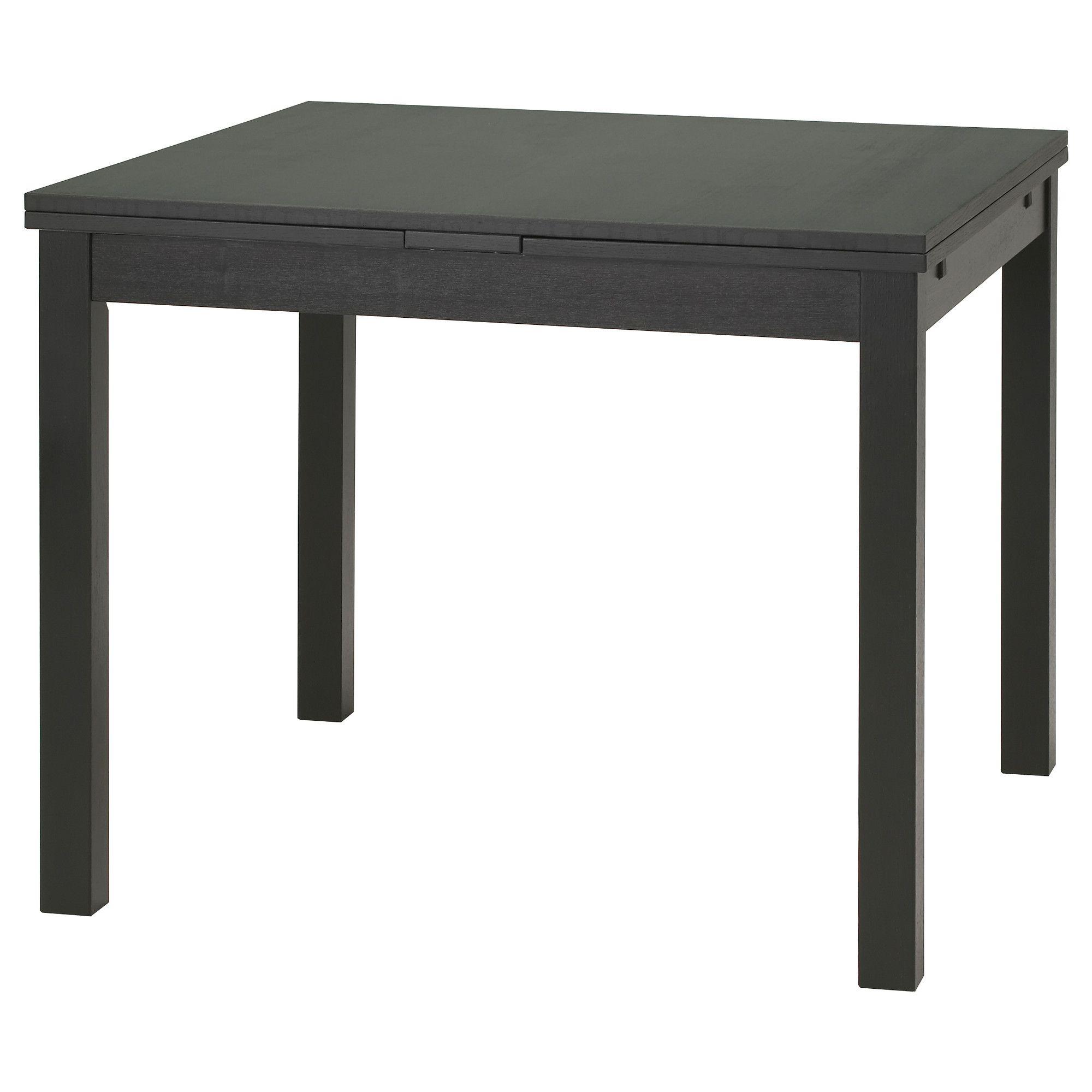 BJURSTA Dining table - brown-black - IKEA- can adjust to get bigger ...