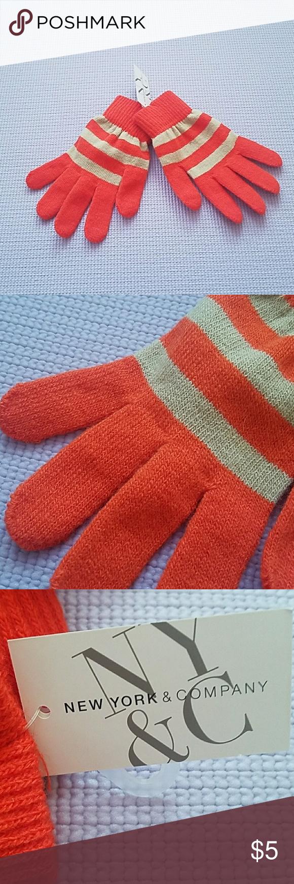 Orange and tan gloves Orange and tan gloves New York & Company Accessories