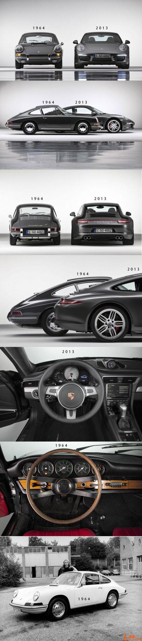 Porsche 911 ~ 1964 vs 2013 || #audivehicles