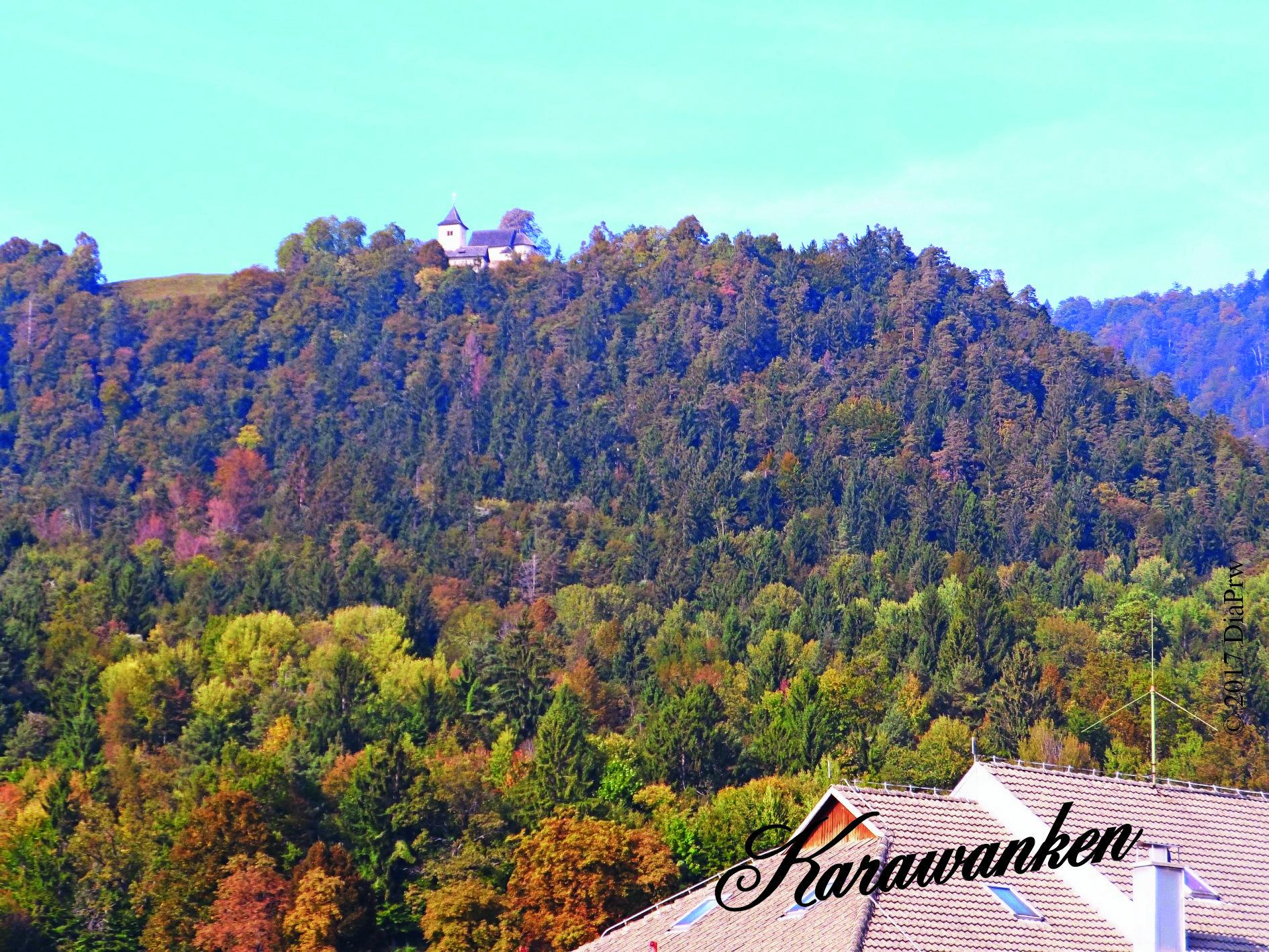Vom Ort Begunje im Nordwesten Sloweniens auf die herbstlichen Karawanken. Teil des großen Reiseberichts vom Bleder See zu den Karawanken. Auf Tourismus bei presseweller.