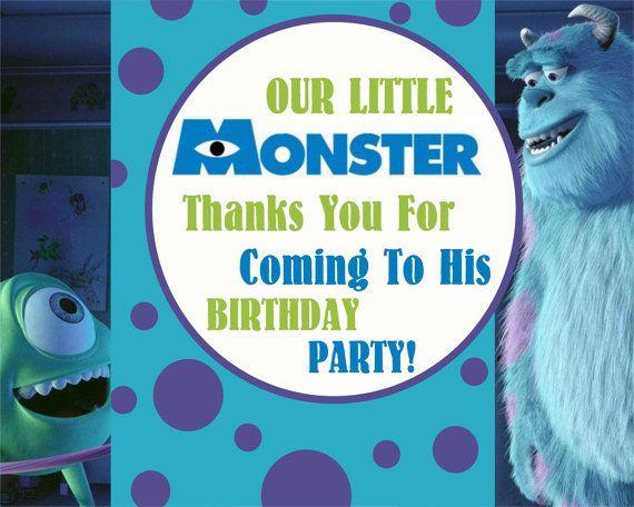 Monster Inc Printable Thank You Card Printable Thank You Cards Monsters Inc Thank You Cards