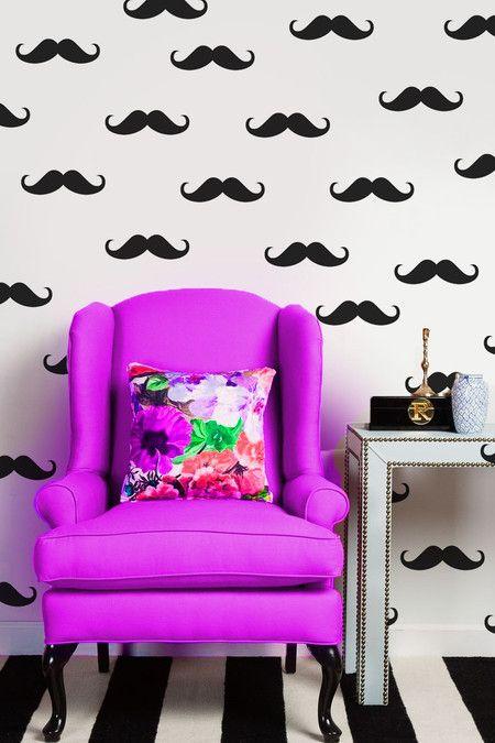 Adesivo de Parede Moustache