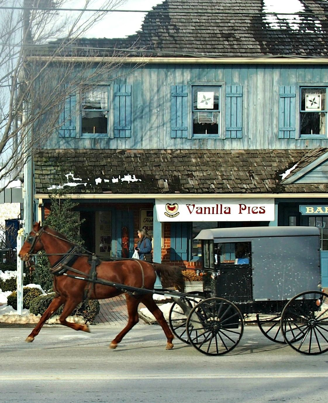 Amish buggy, Amish country Lancaster Pennsylvania. An amazing and beautiful part of the USA http://worldtravelfamily.com