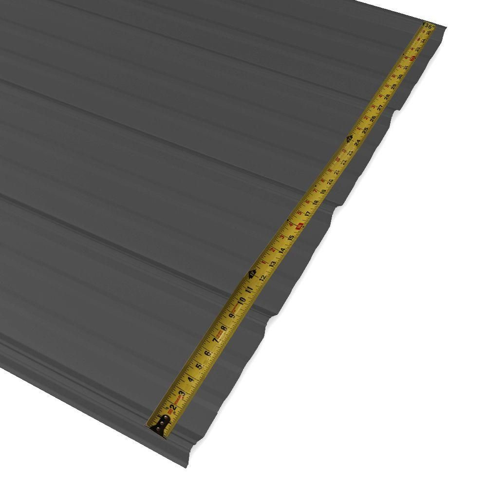 Metal Sales 10 Ft Classic Rib Steel Roof Panel In Charcoal 2313317 The Home Depot Steel Roof Panels Roof Panels Roof Sealant