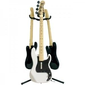 The Mad Catz Triple Tree Guitar Stand has a unique 3 guitar hanging system that will allow you to rest your Mad Catz replica guitars and basses safely and securely. The height-adjustable stand features soft foam hangers and backrests to keep your investments from getting scratched or dinged and in an out-of-the-way place when not rocking the world.