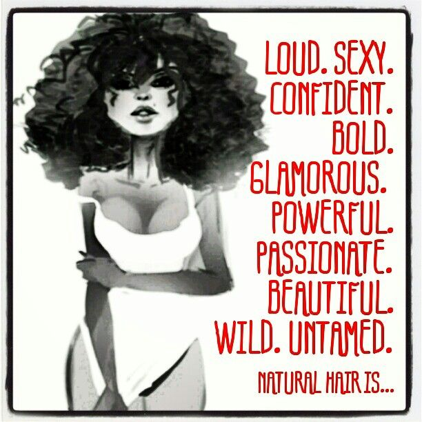 Natural hair is...