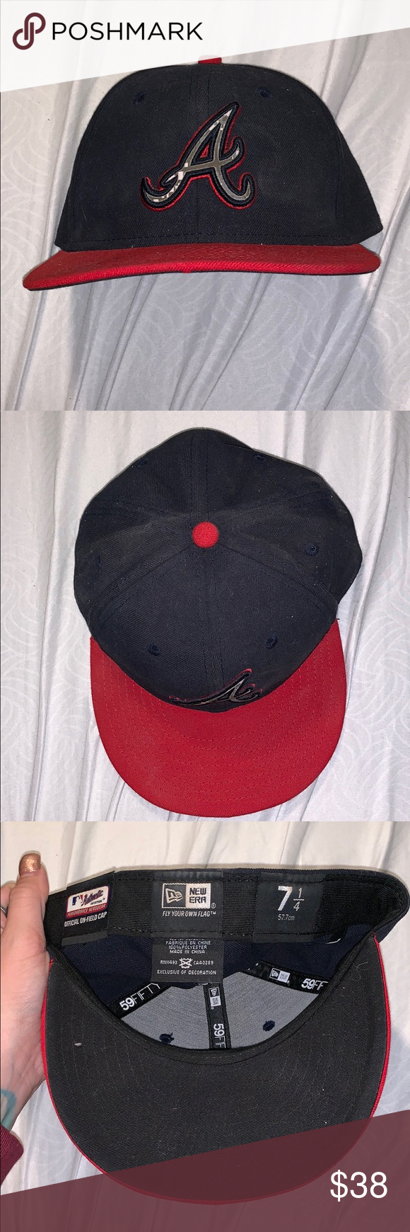 Military Braves Mlb Fitted Hat Fitted Hats Navy Hats Military Logo