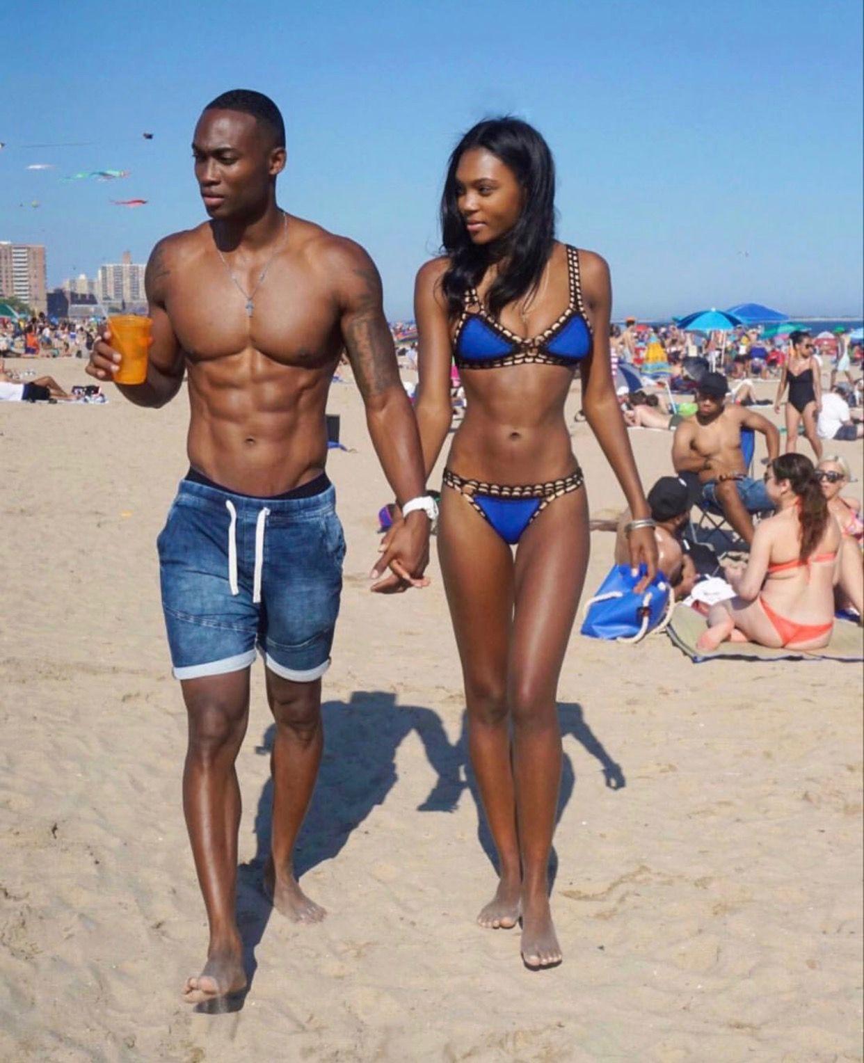 Powerful Glamorous Black Couple: Black Couples, Couple Beach, Fit Couples