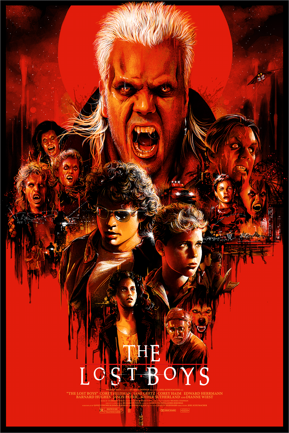 THE LOST BOYS PRINT Choose Size /& Media Type Canvas or Poster 80s Poster A