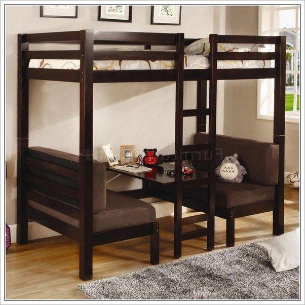 Marvelous Double Bunk Beds With Desk Underneath