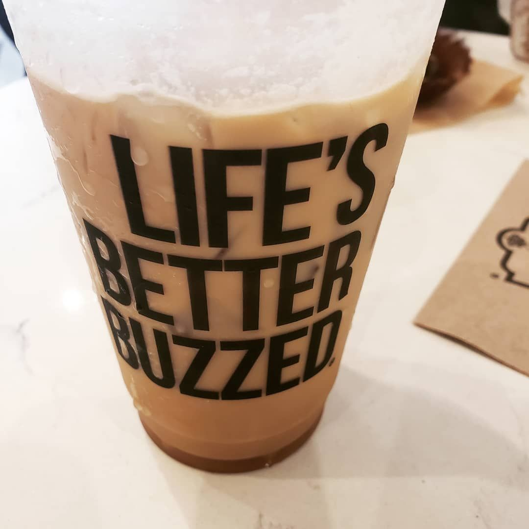 Lifes better buzzed Horchata Latte#coffeetime
