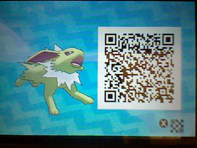 Hime-chan as a Shiny Jolteon! + Pokemon Sun Moon QR code