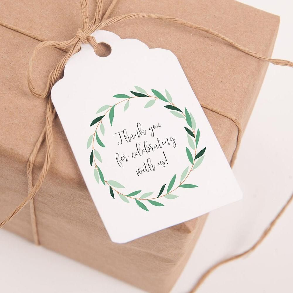 Printable wedding favor tags, \