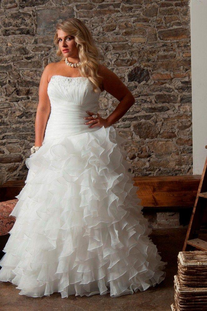 vestido de novia con falda con capas para las que somos gorditas fotos y una