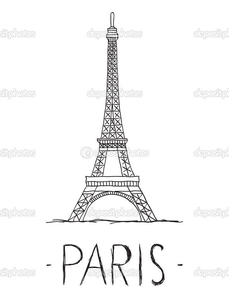 eiffel tower drawings - Google Search   Livvy wall   Pinterest