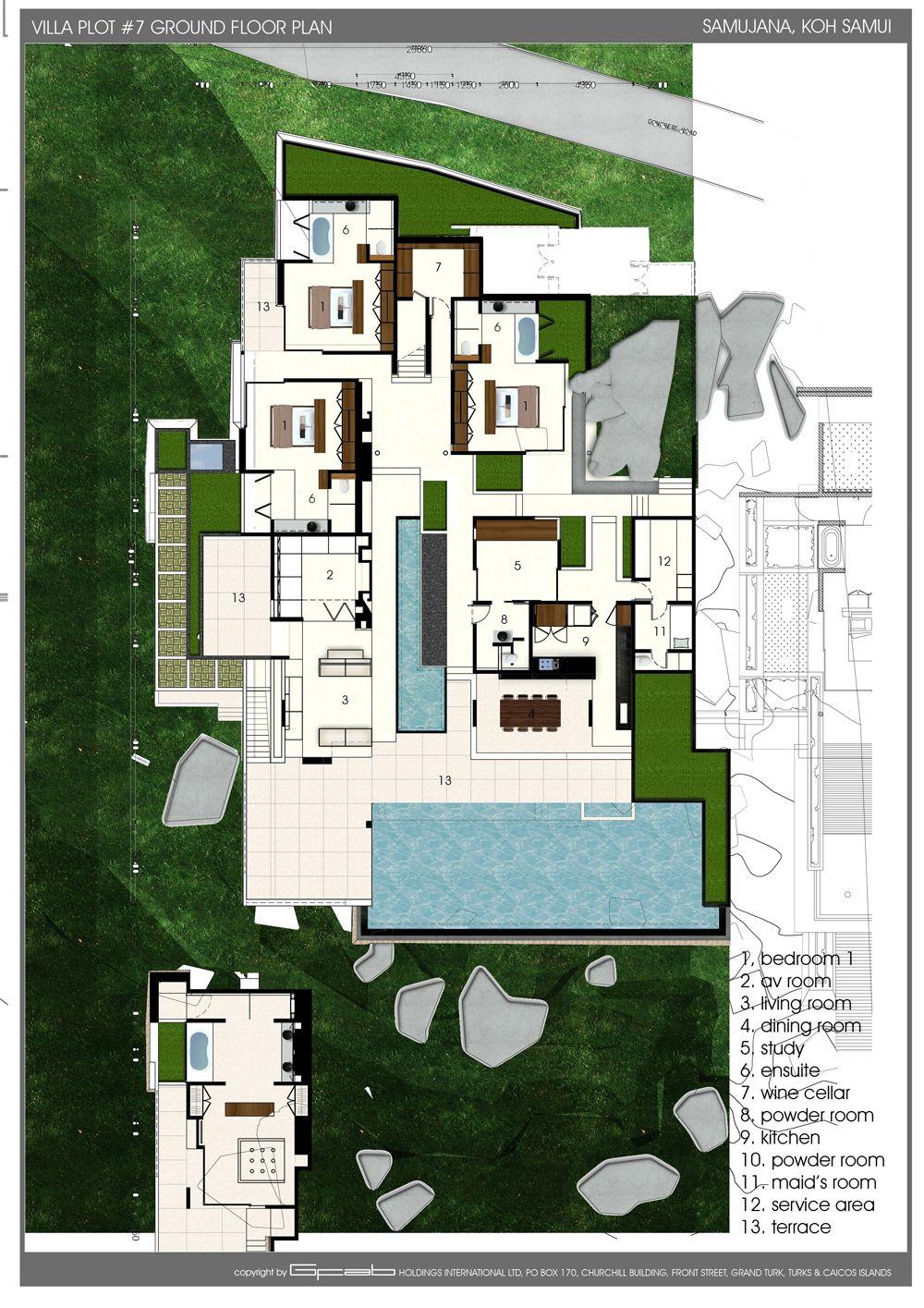 Villa 7 Lower Floor Home Design Floor Plans Floor Plan Design Floor Plans